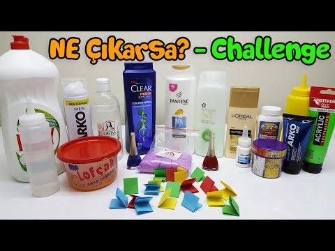 Kağıttan Ne Çıkarsa Slime Challenge - Çok Eğlenceli