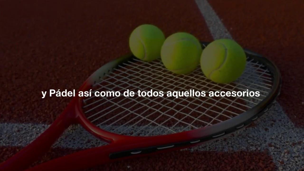 Tienda de tenis y pádel, Raquetas cordajes, pelotas