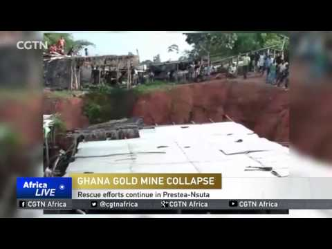 Ghana Gold Mine Collapse: Rescue efforts continue in Prestea-Nsuta