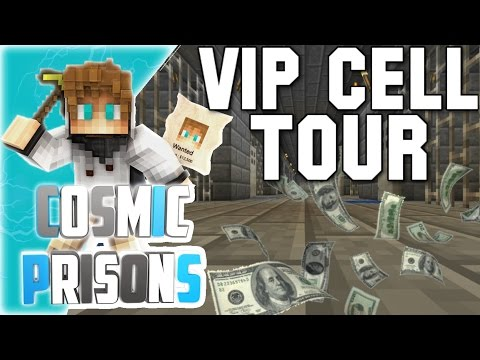 """VIP CELL TOUR!"" Minecraft COSMIC PRISONS (Sovereign Planet) S3 Ep12"