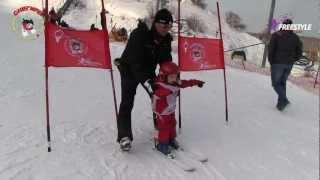 Начальное обучение детей горным лыжам