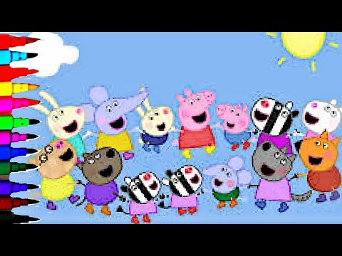 Peppa Pig BEST Coloring Book Super Coloring Pages Compilations Kids Fun Art Activities Videos