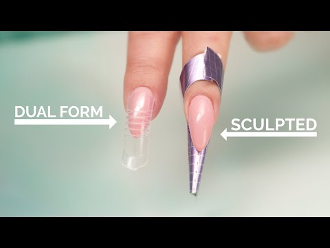 Dual Forms vs Sculpted Acrylic Nails