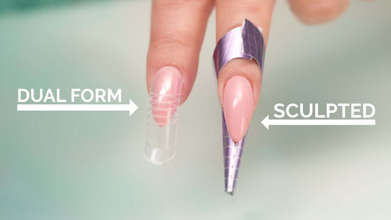 Dual Forms vs Sculpted Acrylic Nails - YouTube