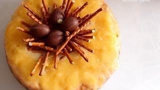 Przepis na ciasto cytrynowe z polewą z białej czekolady i lemon curd. Ciasto na Wielkanoc.