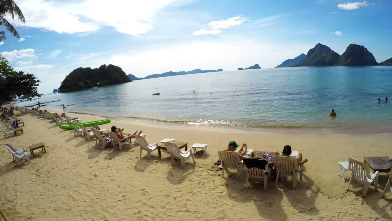 Las Cabanas Beach Philippines El Nido Gopro Timelapse