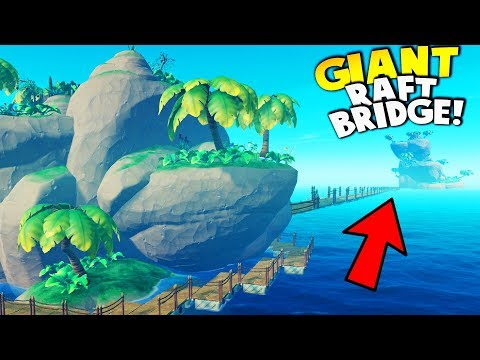 BUILDING GIANT RAFT BRIDGE CONNECTING TWO ISLANDS!? (New Creative Mode) | Raft Gameplay