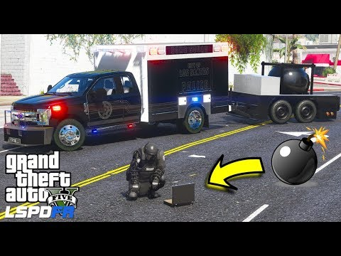 Last Live Stream! GTA 5 LSPDFR #652 Los Santos Bomber On The Loose! New Police Bomb Squad & Trailer