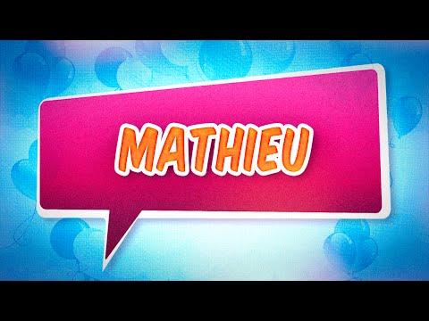 Joyeux anniversaire Mathieu