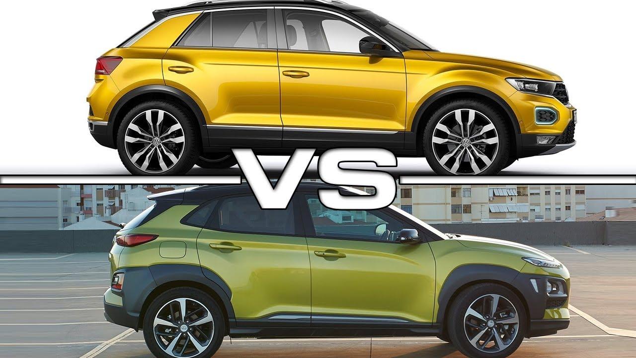 Tucson Dimensions 2017 >> 2018 Volkswagen T-Roc vs 2018 Hyundai Kona - YouTube
