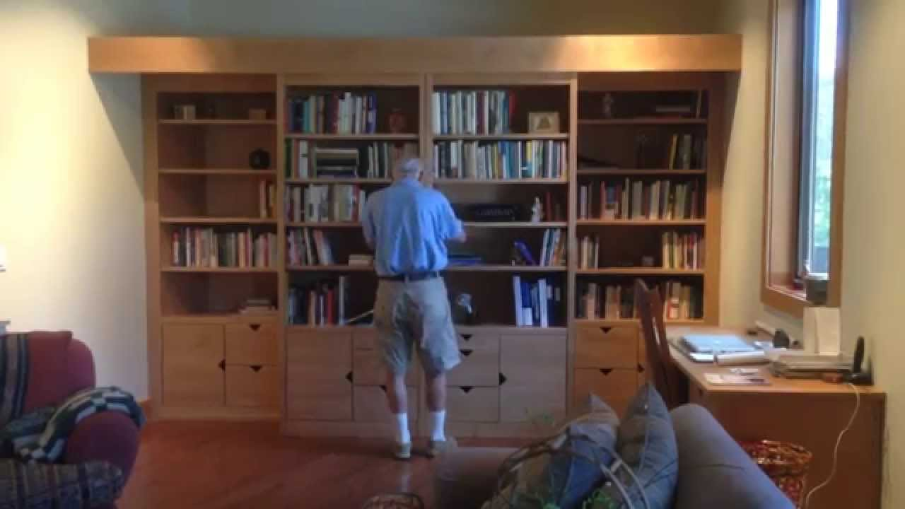 The Sonoma Wallbed Library Bed Youtube
