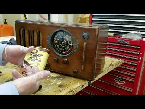 1937 WESTINGHOUSE WR-212 BC-SW Radio BONUS Rejuvinating with Howard's Restore-A-Finish