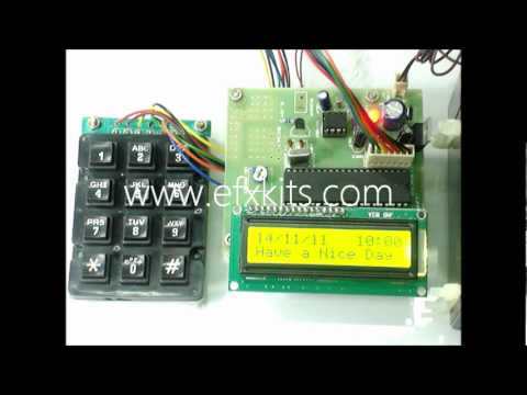 Automatic Operate of Motor Control using LCD Display | Engineering Projects