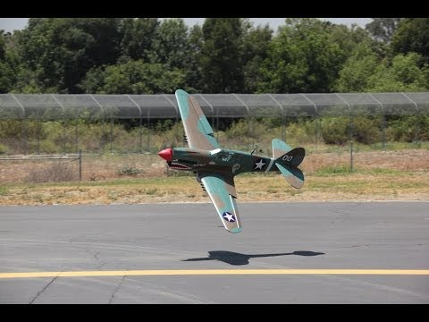 Banana Hobby P-40 Warhawk Flight #2 2014 Minor Retract Issue.