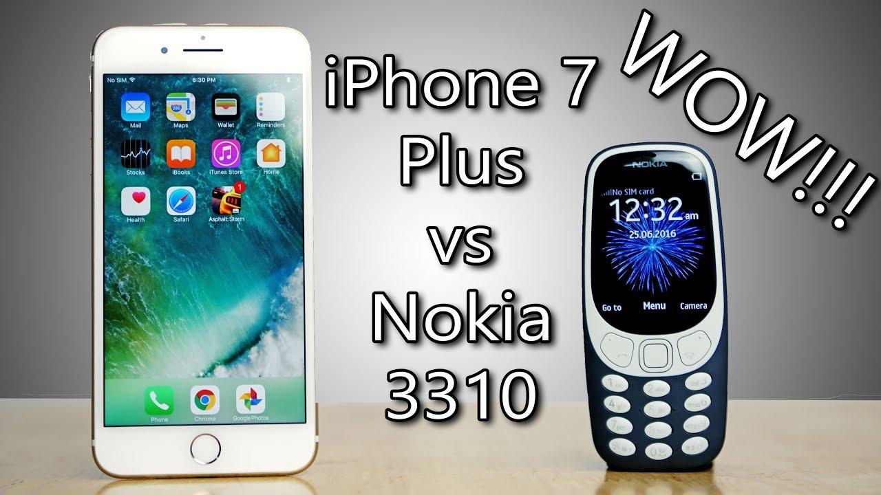 nokia 3310 vs iphone 7 plus