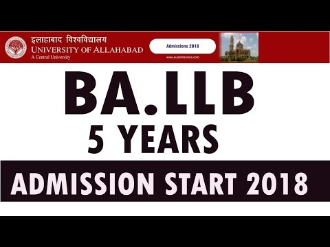 BA LLB COURSE 5 YEAR FROM ALLAHABAD UNIVERSITY ADMISSION 2018 | EXAM DATES,FEES,SYLLABUS, AND OTHER