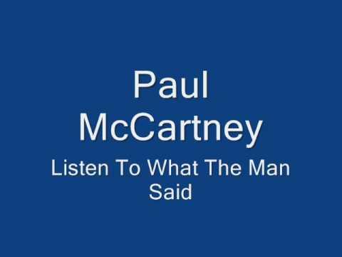 Paul McCartney-Listen To What The Man Said