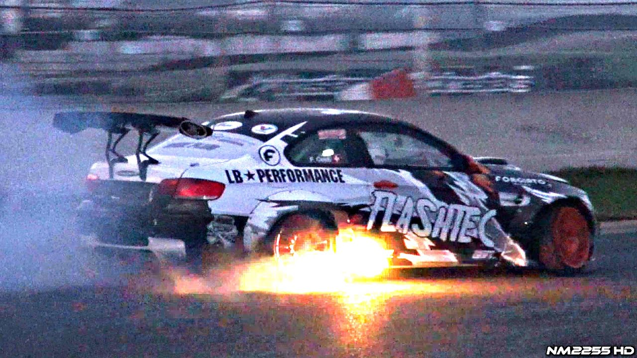 750hp Supercharged Bmw M3 E92 Drifting Spitting Flames Youtube