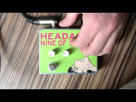HEADACHE Pedal - Nine of Swords Effects. Handcrafted in t