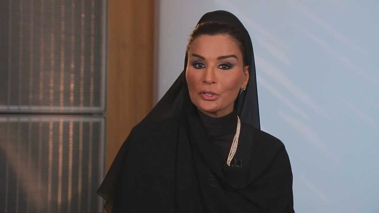 message from her highness sheikha moza bint nasser youtube. Black Bedroom Furniture Sets. Home Design Ideas