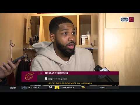 Tristan Thompson on how it felt to play for first time since injuring his calf