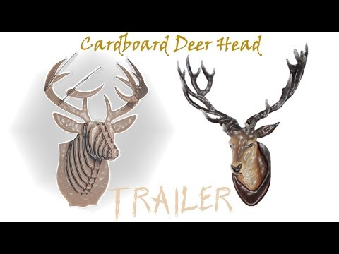 how to make a cardboard wall deer head flimmer clipper