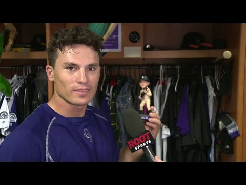 MIA@COL: LeMahieu on her husband's bobblehead