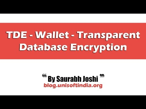 TDE - Wallet - Transparent Database Encryption  - Oracle 10g