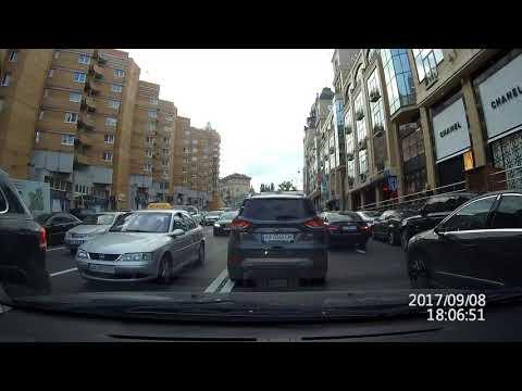 Сам момент взрыва.  Запись регистратора автомобиля.  Киев 08.09.17. (Украина)