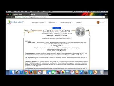 Mining Certificates