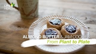 Almond Butter And Jam Cookies