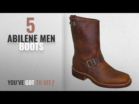 "Top 10 Abilene Men Boots [ Winter 2018 ]: Abilene Men's Sage by 11"" Engineer Boot Square Toe Tan 8.5"