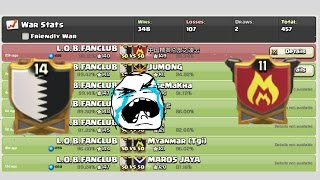 Clash of Clans|| OUR WIN STREAK IS BROKEN || CLAN (14 VS 11) WAR RECAP|| COC 2017