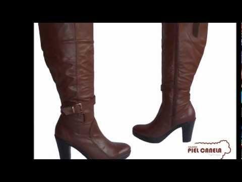CALZADO PIEL CANELA BOTAS - YouTube 30ed47b1ee268