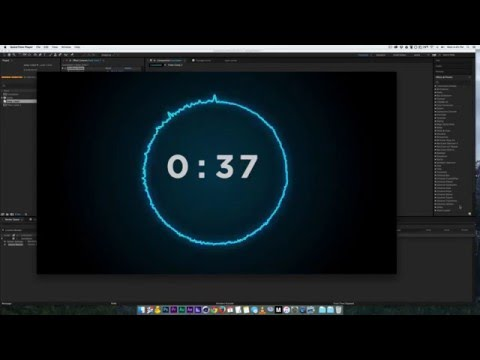 How to make a countdown in after effects with audio reaction