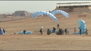 Russian & Egyptian air troopers practise a coordinated attack against an enemy