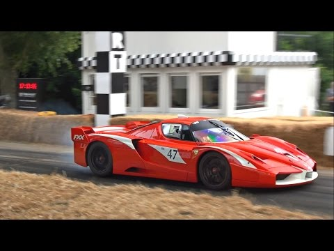 ULTIMATE V12 sounds and many burnouts from Ferrari FXX, FXXK and 599 XX!!