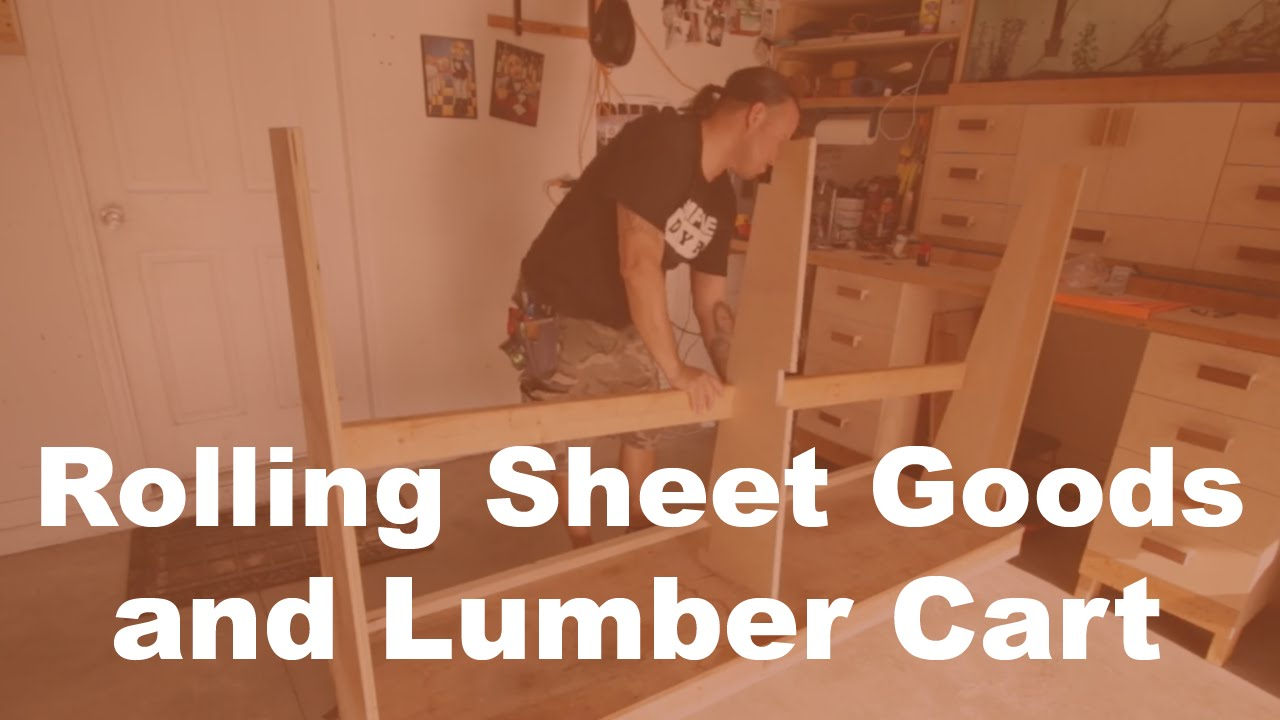 Rolling Sheet Goods and Lumber Cart