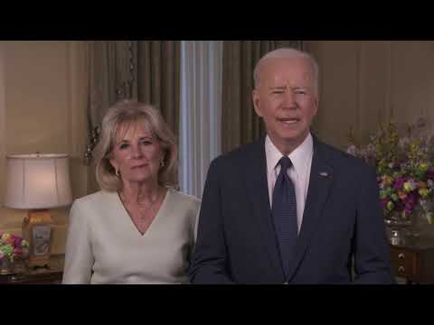 20210331 President Biden and First Lady Video Taping Easter