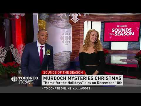 "Hélène Joy on CBC News about the Murdoch Mysteries Christmas ""Home for the Holidays"" Mp3"