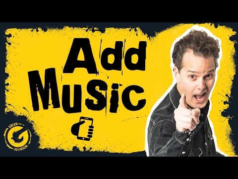 How To Add Music To Your YouTube Video iOS App iPhone iPad / Android
