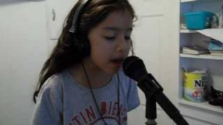 7 year old jazzylin singing (baby) by justin bieber