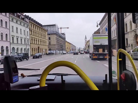 My daily commute by Bus in Munich, Germany. November 2015