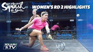 Squash: Women's Rd 2 Highlights - Squash de Nantes 2018