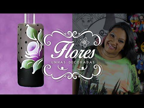 Unhas Decoradas com Flores Simples (Carga Dupla) | Cola na Villar