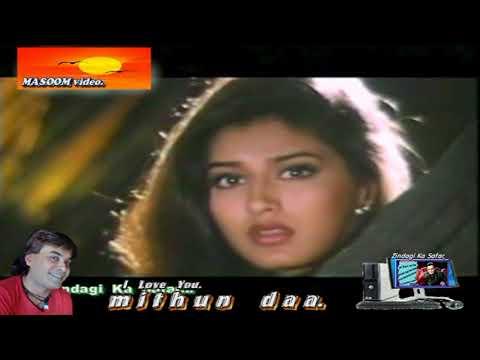 Tere Bin Mein Kuch Bhi Nahi. ( Naaraaz 1994. ) Masoom Video HD.