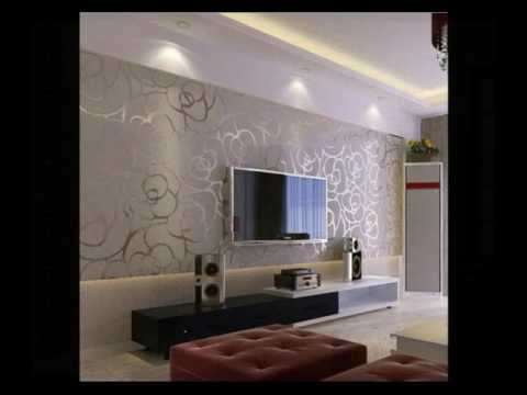 Inspirasi Desain Wallpaper Ruang TV (Wallpaper TV Lounge Inspiration Design)