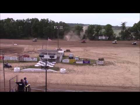 Butler Motor Speedway SOD Sprints On DIrt Sprint Heat #1 6/17/17