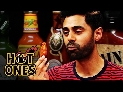 Hasan Minhaj Has an Out-of-Body Experience Eating Spicy Wings   Hot Ones