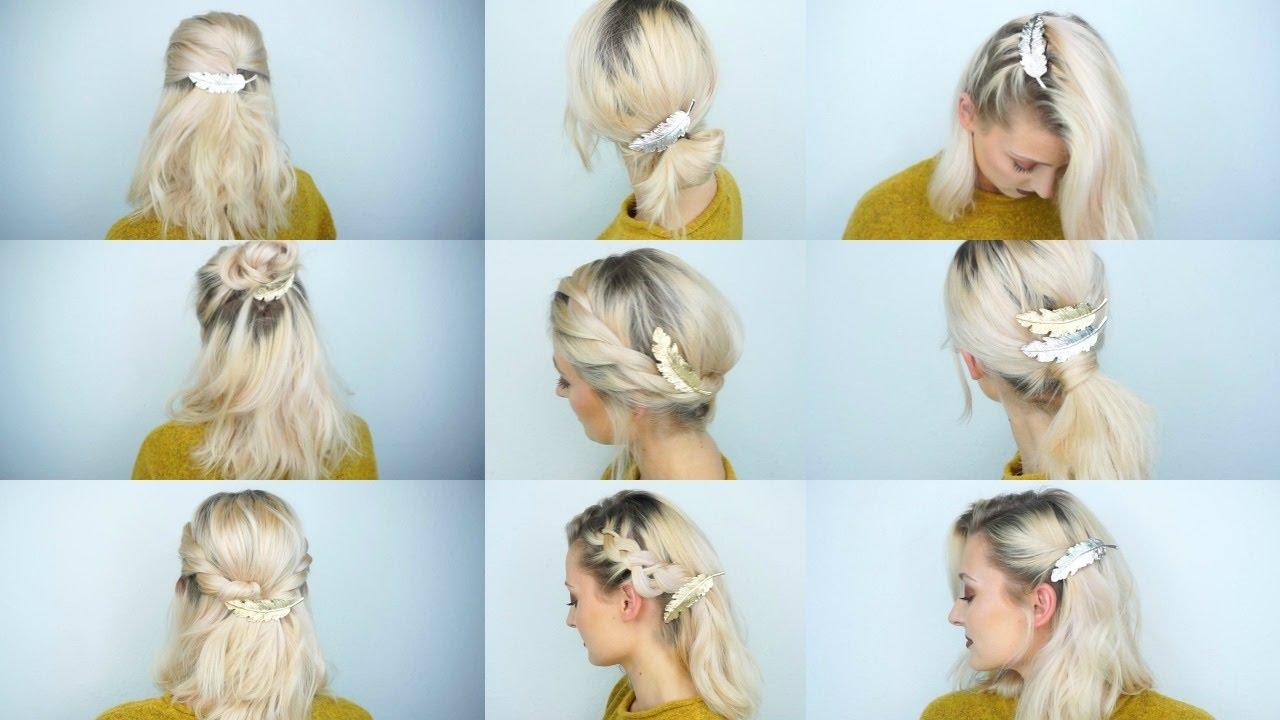9 Frisuren Mit 1 Haarschmuck Olesjaswelt